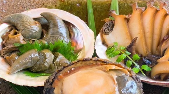 あわびの煮貝とあわびの煮わたのセット